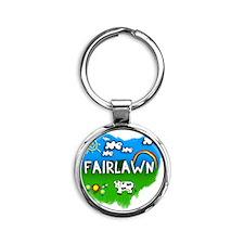 Fairlawn Round Keychain