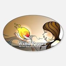 oval power Decal