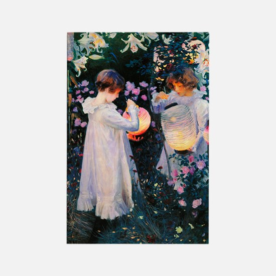 iPad Sargent Lily Rectangle Magnet