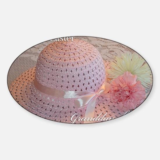Easter Hat Granddaughter Sticker (Oval)