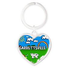 Garrettsville Heart Keychain