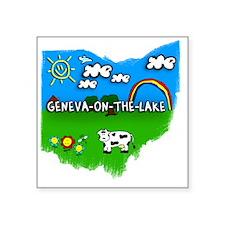 "Geneva-on-the-Lake Square Sticker 3"" x 3"""