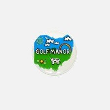 Golf Manor Mini Button