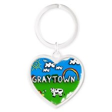 Graytown Heart Keychain
