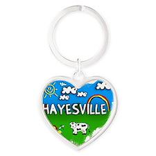 Hayesville Heart Keychain