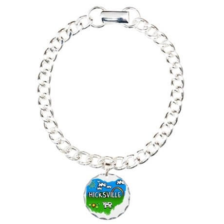 Hicksville Charm Bracelet, One Charm