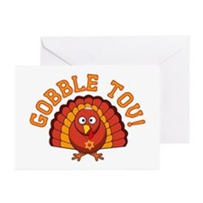 Gobble Tov Thanksgivukkah Turkey Greeting Cards