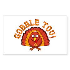 Gobble Tov Thanksgivukkah Turkey Decal