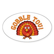 Gobble Tov Thanksgivukkah Turkey Decal