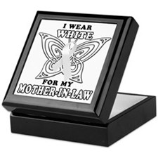 I Wear White for my Mother in Law Keepsake Box