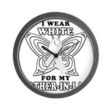 I Wear White for my Mother in Law Wall Clock