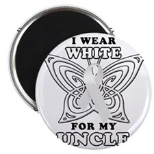 I Wear White for my Uncle Magnet
