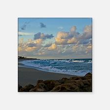 "Dusk at Coral Cove Square Sticker 3"" x 3"""