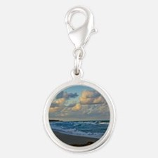 Dusk at Coral Cove Silver Round Charm