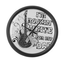 Im Rockin White for my Dad Large Wall Clock