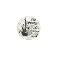 Im Rockin White for my Dad Mini Button