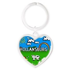 Hollansburg Heart Keychain