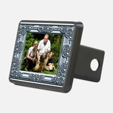 Custom silver baroque framed photo Hitch Cover
