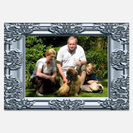 Custom silver baroque framed photo 3.5 x 5 Flat Ca