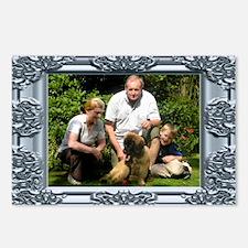 Custom silver baroque framed photo Postcards (Pack