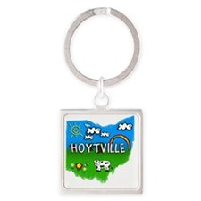 Hoytville Square Keychain