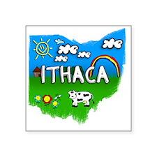 """Ithaca Square Sticker 3"""" x 3"""""""