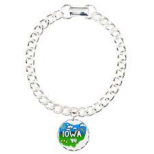 Iowa Charm Bracelet, One Charm
