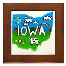 Iowa Framed Tile