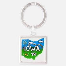 Iowa Square Keychain