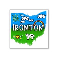 "Ironton Square Sticker 3"" x 3"""