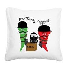 doomsday-peppers2_light.gif Square Canvas Pillow