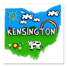 "Kensington Square Car Magnet 3"" x 3"""