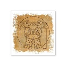 "2012_vitruvian Square Sticker 3"" x 3"""