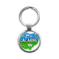 Lacarne Round Keychain
