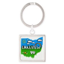 Lakeview Square Keychain
