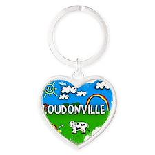Loudonville Heart Keychain