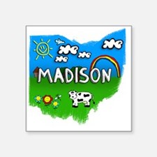 "Madison Square Sticker 3"" x 3"""