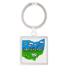 Mathers Mill Square Keychain