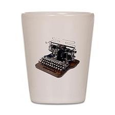 typewriter Shot Glass