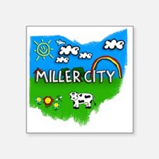 "Miller City Square Sticker 3"" x 3"""