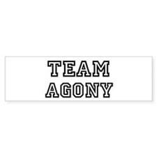 Team AGONY Bumper Bumper Sticker