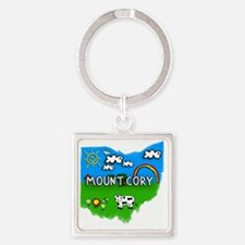 Mount Cory Square Keychain