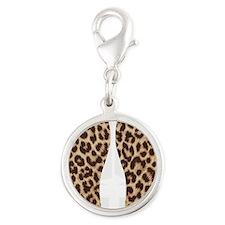 leopardflipflops Silver Round Charm