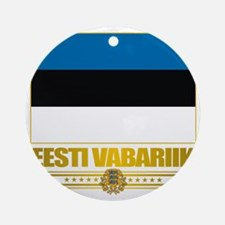 Estonia (Flag 10)2 Round Ornament