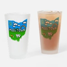 Mule Town Drinking Glass