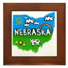 Nebraska Framed Tile
