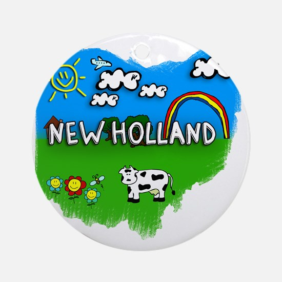 New Holland Round Ornament