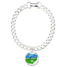 New Jersey Charm Bracelet, One Charm