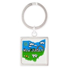 New Jersey Square Keychain