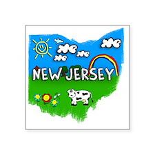 "New Jersey Square Sticker 3"" x 3"""